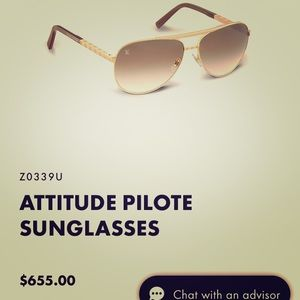 Brand New Louis Vuitton Attitude Pilote Sunglasses